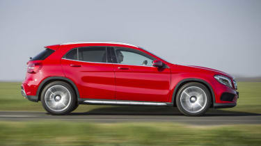 Mercedes GLA250 AMG red side profile