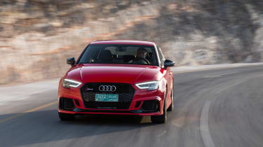 Audi RS3 Saloon Red front 2
