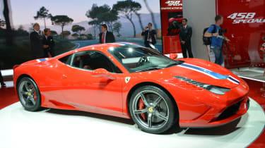 Ferrari 458 Speciale side at Frankfurt Motor Show