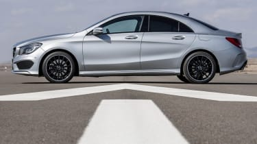 Mercedes-Benz CLA side profile silver