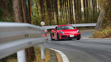 Porsche Cayman GTS Japan - front roads