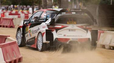 WRC Rally Catalunya - Toyota rear