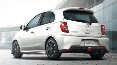 Nissan March Nismo white rear