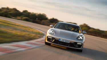 Porsche Panamera Turbo S E-Hybrid ride - front cornering