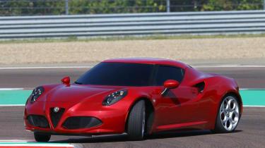 Alfa Romeo 4C sideways powerslide drift