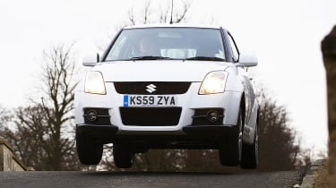 Suzuki Swift Sport jumping shot