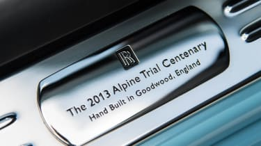 2014 Rolls-Royce Ghost Alpine Trial Centenary Collection plaque