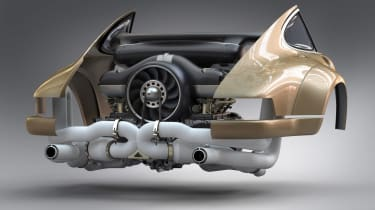 Singer - Williams collab - engine shot