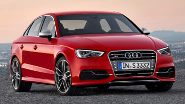 Audi S3 Saloon red front view