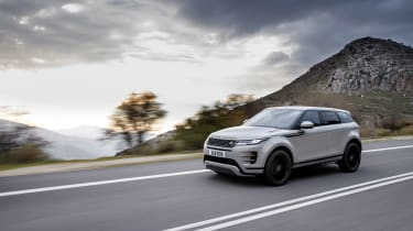 2019 Range Rover Evoque silver - side