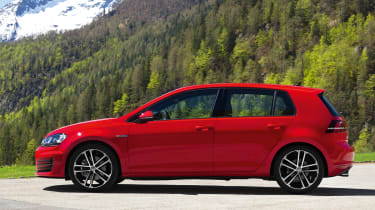 2013 Volkswagen Golf GTD red side profile
