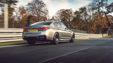 BMW M5 Competition rear tracking