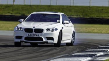 BMW M5 sideways drift