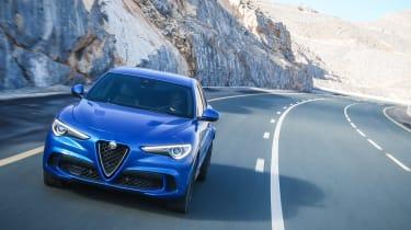 Alfa Romeo Stelvio QV drive - nose