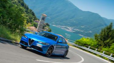Alfa Romeo Giulia Veloce - front cornering