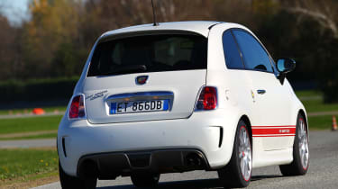 Abarth 595 50th Anniversary red and white rear