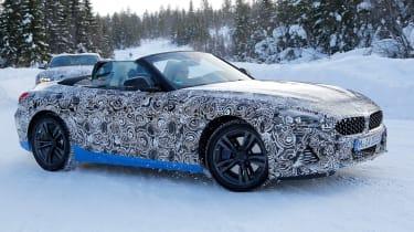 BMW Z4 mule - turning