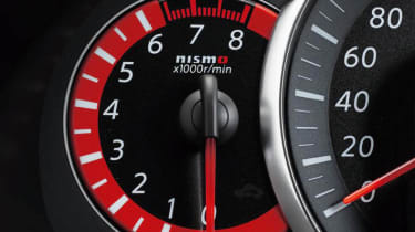Nissan March Nismo red rev counter