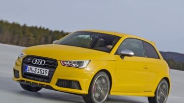 Audi S1 quattro yellow