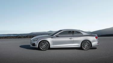 Audi A5 coupe silver - studio side