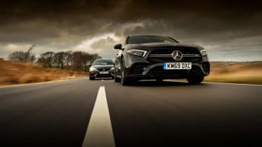 Mercedes-AMG A35 saloon vs Cupra Leon R Abt vs BMW M135i - A35 tracking 2