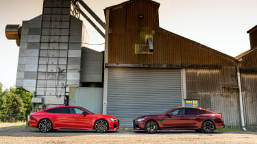 Audi RS7 vs M8 Comp GC - side static