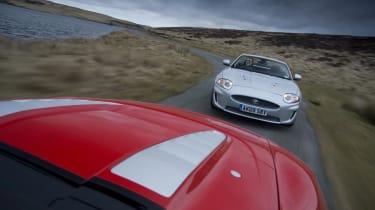 Jaguar chases Audi