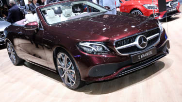 Mercedes E-Class Cabriolet - Geneva front three quarter