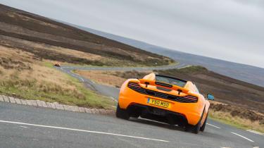 McLaren 12C Spider – rear cornering