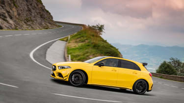 Mercedes-AMG A35 - turning