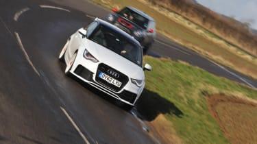 evo Magazine: April 2013 Audi A1 quattro Mini JCW GP