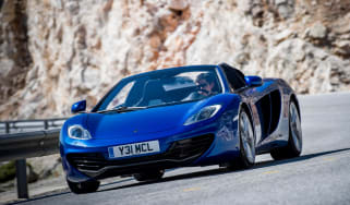 McLaren 12C Spider azure blue front