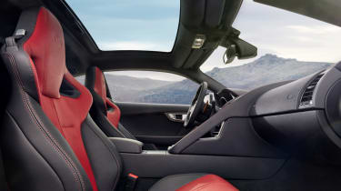 Jaguar F-type R Coupe seats glass roof
