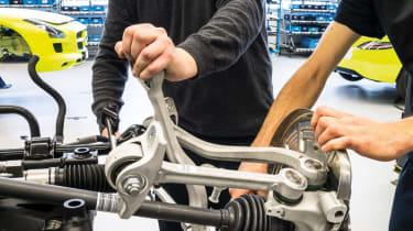 Mercedes SLS AMG Electric Drive suspension