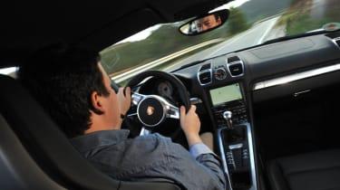2013 Porsche Cayman S interior driving