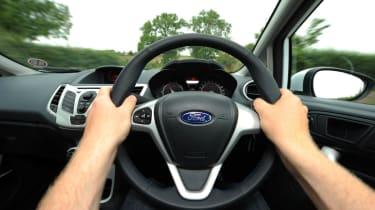 Ford Fiesta S1600 steering wheel