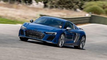 Audi R8 facelift review - cornering