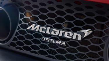 McLaren Artura revealed - orange badge