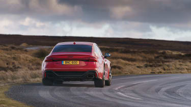 Audi RS7 red - rear cornering