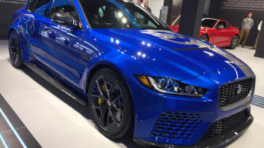 Jaguar XE SV Project 8 - Goodwood front three quarter