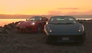 Ferrari v Lamborghini Gallardo Spyder