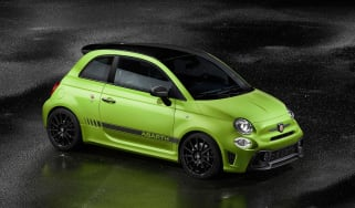 Abarth 595 MY19 update - front quarter green
