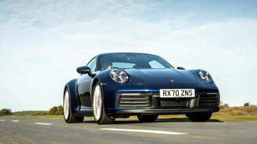 Porsche 911 Carrera S manual blue - tracking low