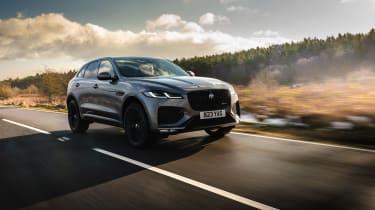 Jaguar F Pace 2021 review - P400 front tracking