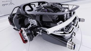 Alpine A110 GTA concept – rear chassis
