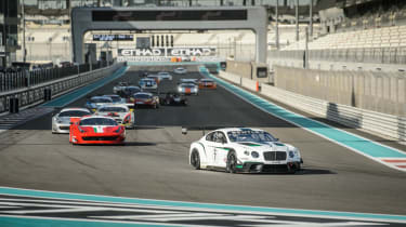 Bentley Continental GT3 race debut report Abu Dhabi