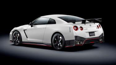 Nissan GT-R Nismo white rear