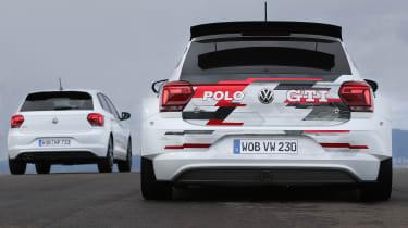 VW Polo GTI R5 and VW Polo GTI – rear
