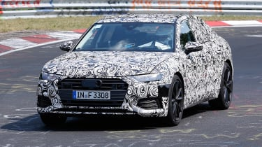2018 Audi S6 spied - front 2