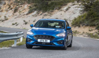 Ford Focus ST-Line review - front cornering